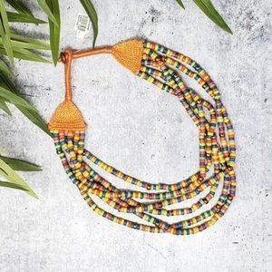 NWT LOFT | Colorful Bead Multi-Strand Necklace